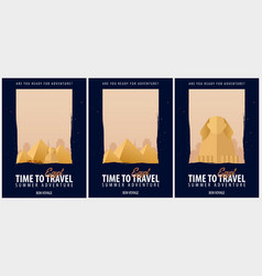 set of posters travel to egypt journey trip and vector image