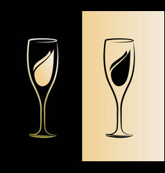 Silhouette champagne glass picture can be vector