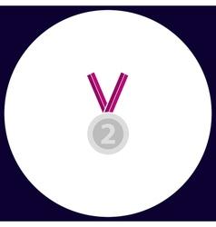 silver medal computer symbol vector image