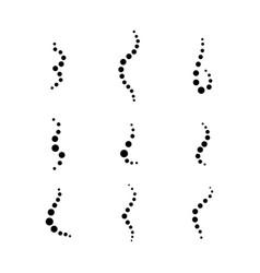 Smell aroma circle set vector