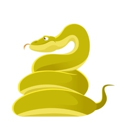 Smiling cartoon snake vector