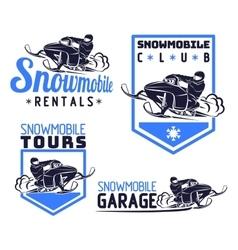 Snowmobile logo vector