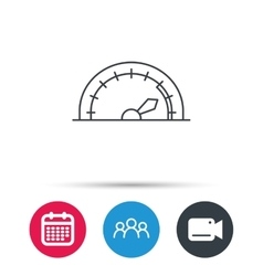 Speedometer icon Speed tachometer with arrow vector
