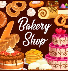 Sweets desserts and pastry food vector