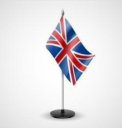 Table flag united kingdom vector