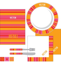 template design for restaurant vector image