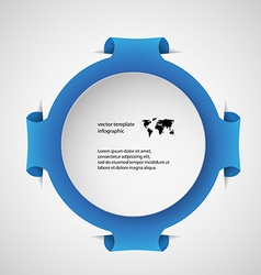 Template infographic with blue ring vector