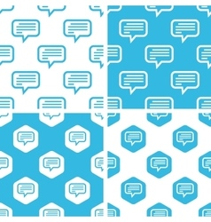 Text message patterns set vector image