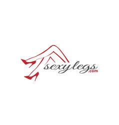 woman girl sexy legs logo design vector image