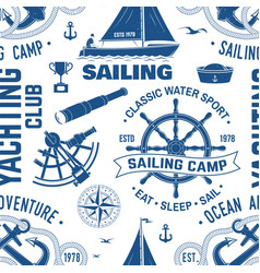 yacht club seamless pattern or background vector image