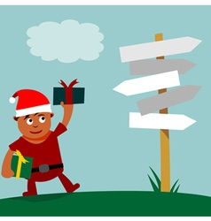 Young Santa Claus choice of direction vector