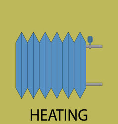Heating battery icon vector image vector image