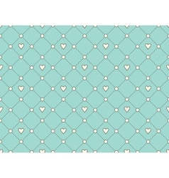 Seamless pattern with white heart and dot on a vector image