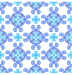 white blue background weave pattern vector image