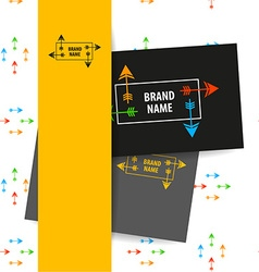 brand name arrow vector image