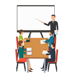 business presentation for group of people vector image vector image