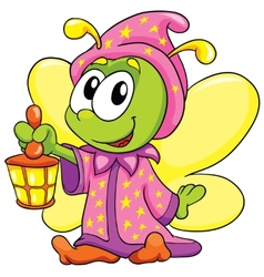firefly in pajamas on white background vector image vector image
