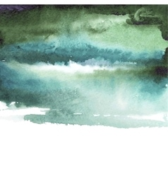 green watercolor blue background vector image