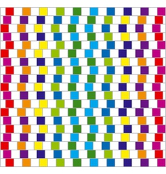 optical illusion squares background vector image vector image