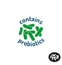 Probiotics icon contains probiotics badge logo vector