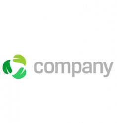 recycle leaves logo vector image