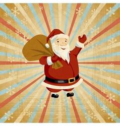 Retro Santa Claus Background vector image vector image