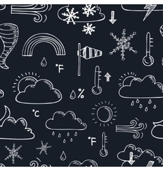 Seamless pattern with doodle sketch weather icons vector image vector image