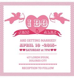 Wedding Angel Invitation Card vector image vector image