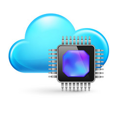 Chip and cloud on white background vector