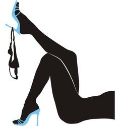 Female slender legs panties vector image vector image