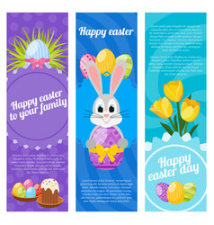 happy easter day vertical banners vector image