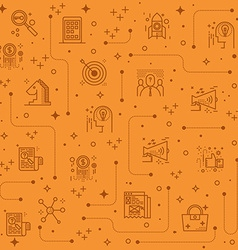 Marketing line icons background vector image vector image