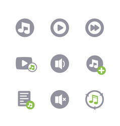 music icons on white vector image vector image