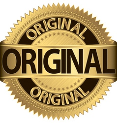 Original Label vector image vector image