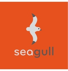 Seagull logo in stylish trend vector image vector image