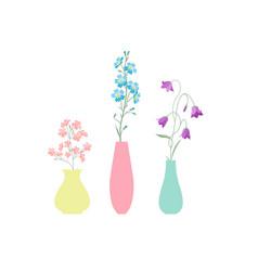 vase of flowers vector image