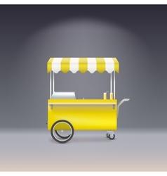 Yellow cart for sale lemonade vector