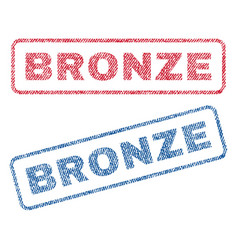 bronze textile stamps vector image