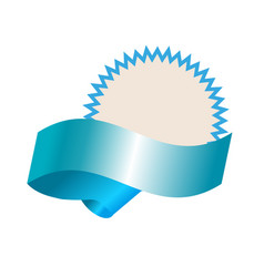 empty template with blue realistic banner vector image