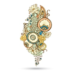 Henna Paisley Mehndi Abstract Element vector image
