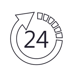 24 hour arrow icon vector image