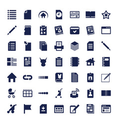 49 page icons vector