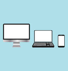 A collection electronic devices computers vector