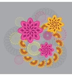 Abstract fancy of glass view flowers Floral vector
