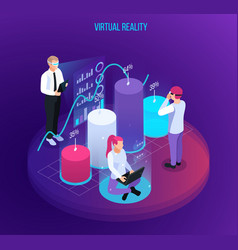 augmented reality graphs composition vector image