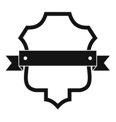 Badge guardian icon simple black style vector