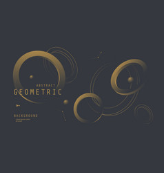 black and gold background with 3d geometric circle vector image