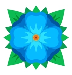 Blue geometric flower vector