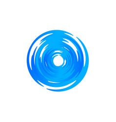 Blue round swirl logo hurricane and typhoon vector