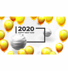 bright invite card happy new year banner vector image